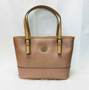 NWT Giani Bernini Saffiano Rose Gold Tote Purse